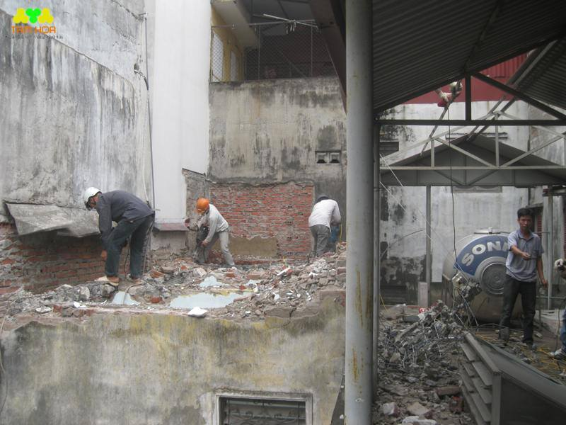 phá dỡ công trình tại hà nội