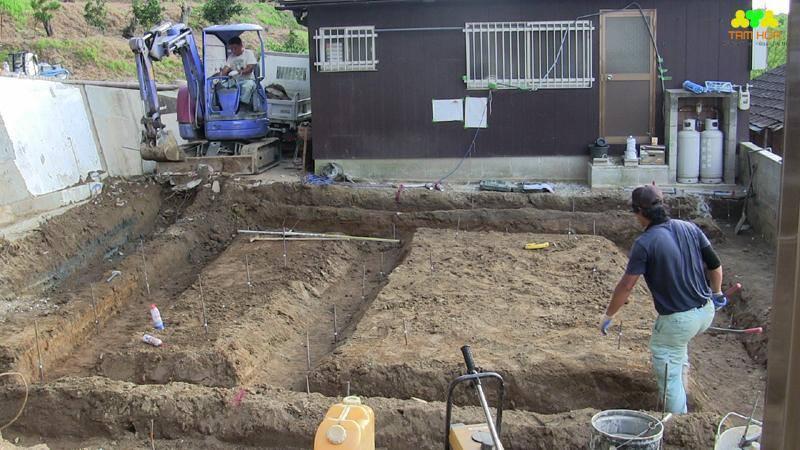 đào móng công trình tại Hà Nội